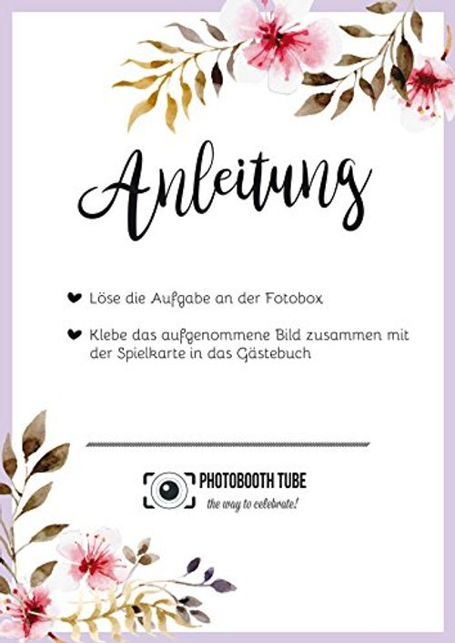 photo Wallpaper of Photobooth Tube-Spielkarten Hochzeit-