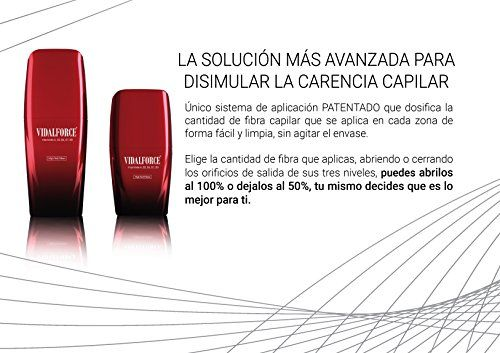 photo Wallpaper of VIDALFORCE-VidalForce Fibras Capilares Naturales Castaño Oscuro 40 Gr Disimula La Carencia-Cabello Castaño Oscuro
