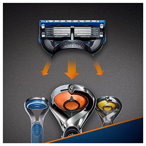 photo Wallpaper of Gillette-Gillette Fusion ProGlide Power   Cuchillas De Recambio Para Maquinilla De-Aluminio, Azul
