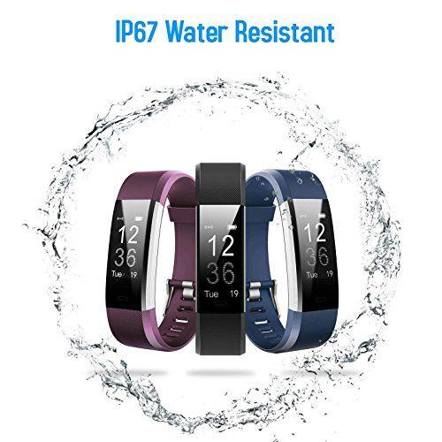 photo Wallpaper of iPosible-Pulsera Actividad,Monitor De Frecuencia Cardiáco,Pulsera Reloj Inteligente Con Pulsómetro Impermeable,Podómetro,Monitor-Púrpura