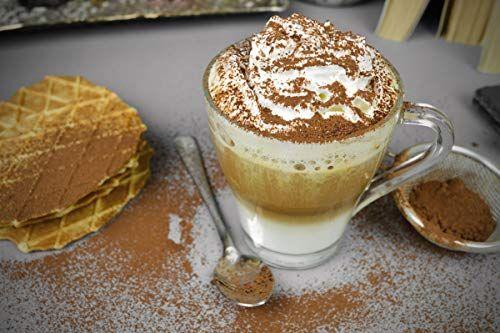 photo Wallpaper of Sendez-6 Cappuccinogläser Mit Henkel Und 6 Edelstahl Löffeln (gratis) Kaffeegläser Teegläser Cappuccino-