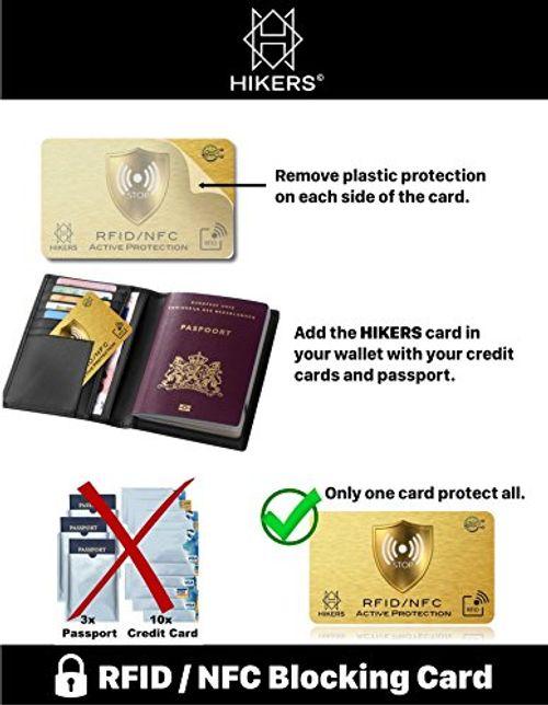 photo Wallpaper of HIKERS-RFID Blocker NFC Schutzkarte   Störsender   Keine Einzelnen Karten-Gold