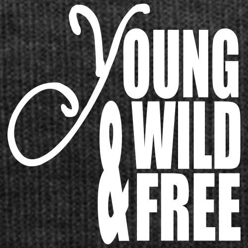 photo Wallpaper of Spreadshirt-Spreadshirt Young Wild And Free Wintermütze, Asphalt-Asphalt