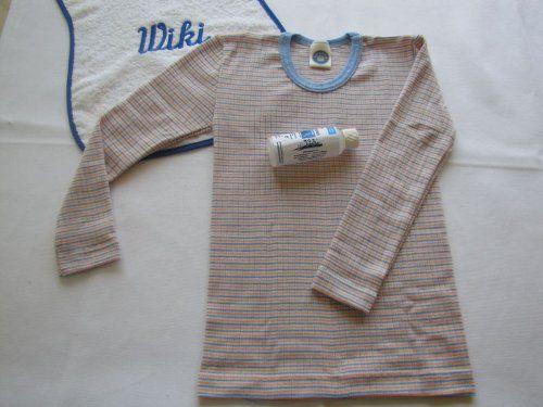 photo Wallpaper of Cosilana-Cosilana Kinderunterhemd Langarm Seide/Wolle Baumwolle Mit Feinwaschmittel Von Wiki Naturwaren, 176,-natur (01)