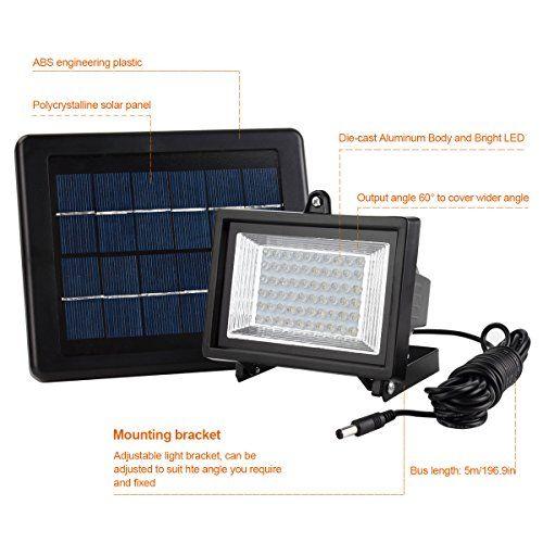 photo Wallpaper of MEIKEE-MEIKEE 60 LED Solar Licht Sicherheit Beleuchtung Solar Flutlicht IP65 6000 K Auto-
