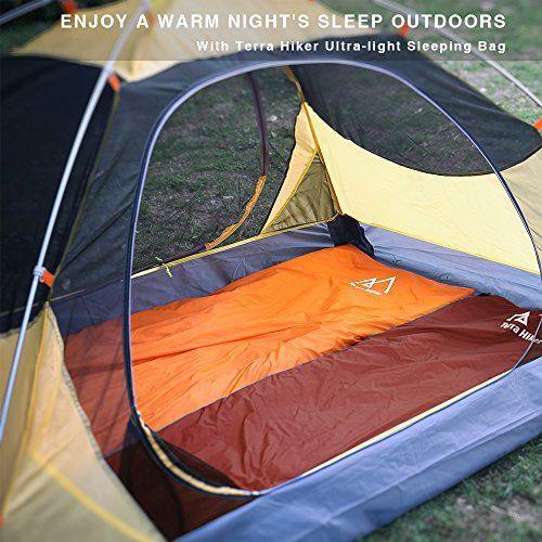photo Wallpaper of Terra Hiker-Terra Hiker Schlafsack, Ultraleicht Hüttenschlafsack, Ideal Für Camping Und Trekkingtouren, Outdoor Camping-Orange