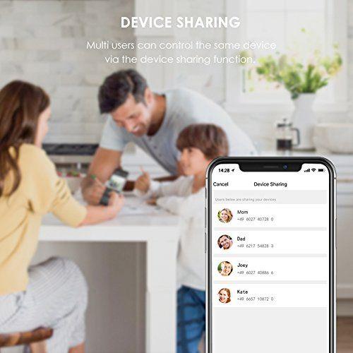 photo Wallpaper of TECKIN-TECKIN WLAN Smart Steckdose Intelligente Plug Alexa Wifi Steckdose Fernbedienbar,-