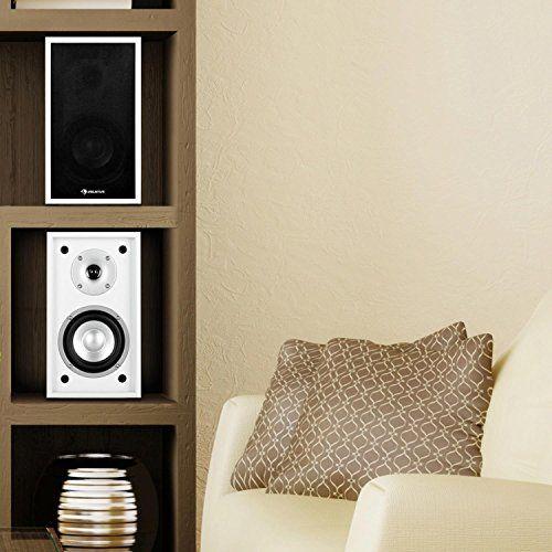 photo Wallpaper of auna-Auna • Linie 300 SF WH • Regallautsprecher • Lautsprecher-weiß-schwarz