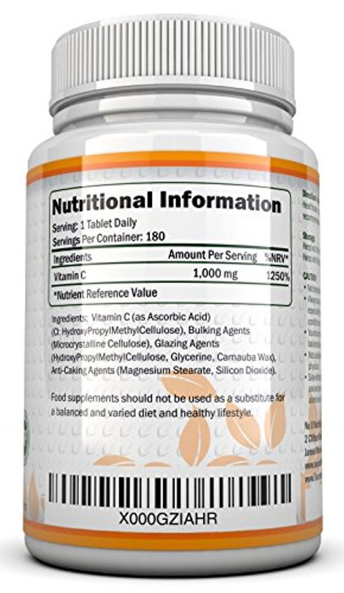 photo Wallpaper of Nu U Nutrition-Vitamina C   1000 Mg   180 Comprimidos (Suministro Para 6-