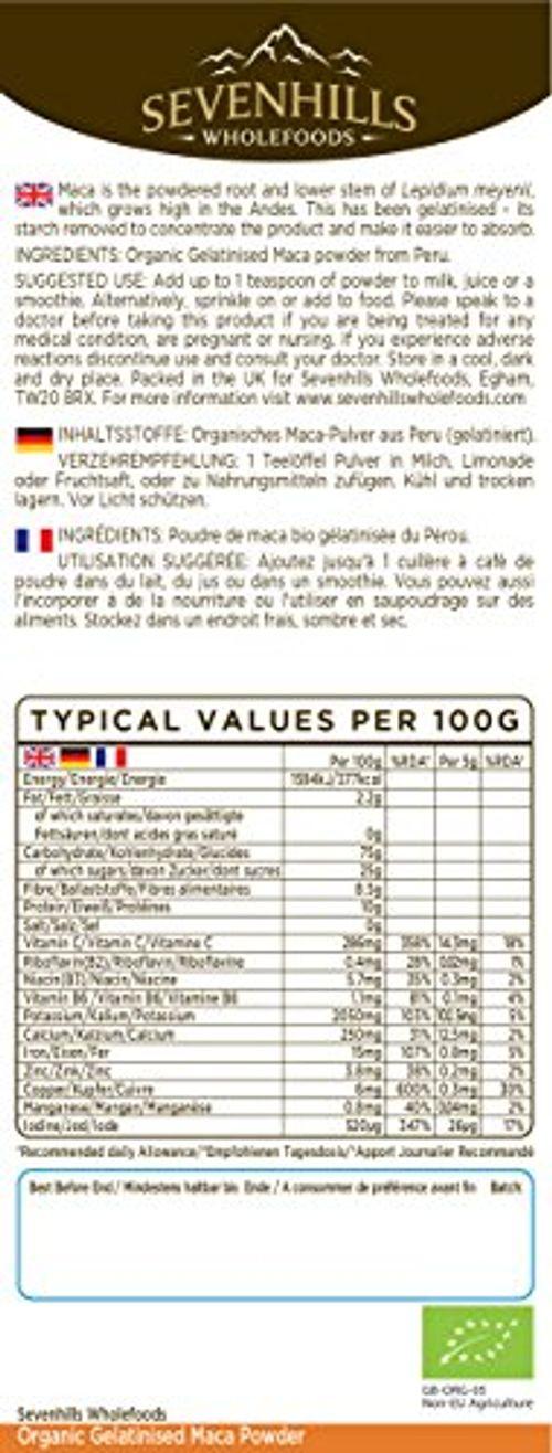 photo Wallpaper of Sevenhills Wholefoods-Sevenhills Wholefoods Maca Gelatinizada En Polvo Orgánico 1kg-