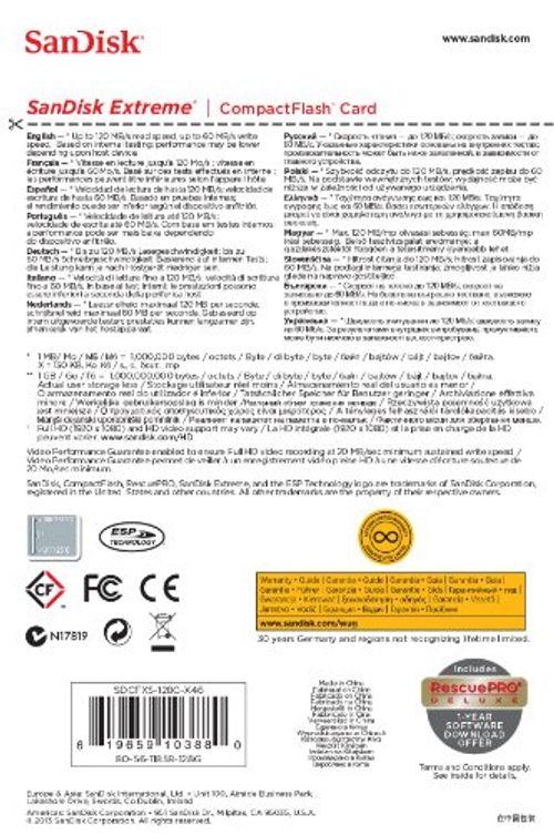 photo Wallpaper of SanDisk-SanDisk Extreme 128GB CompactFlash UDMA7 Speicherkarte Bis Zu 120MB/s Lesen-Gold