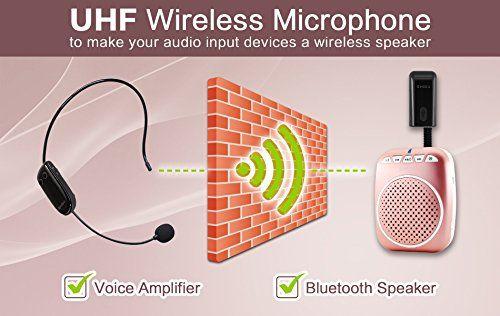 photo Wallpaper of SHIDU-SHIDU UHF Wireless Kopfh?rer Portable Wall Through Headset With 2 In-U8