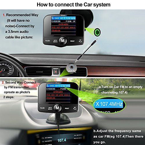 photo Wallpaper of FirstE-FirstE Car DAB+ Radio Tuner Adapter, Portable Auto DAB Digital Radio-DAB008