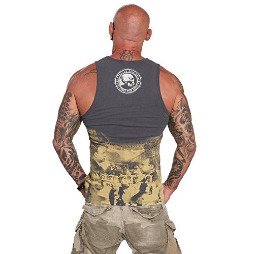 photo Wallpaper of Yakuza-Yakuza Original Herren Italian Job Tank Top T Shirt-Ebony