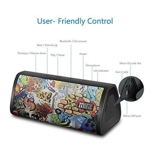 photo Wallpaper of MIFA-MIFA Lautsprecher Bluetooth 4.2 Tragbar 10W, Technologie TWS & DSP Mit 16-Graffiti