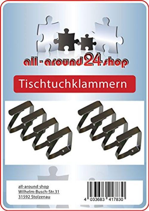 photo Wallpaper of all-around24®-8 Stück Tischtuchklammern Edelstahl Von All Around24-silber