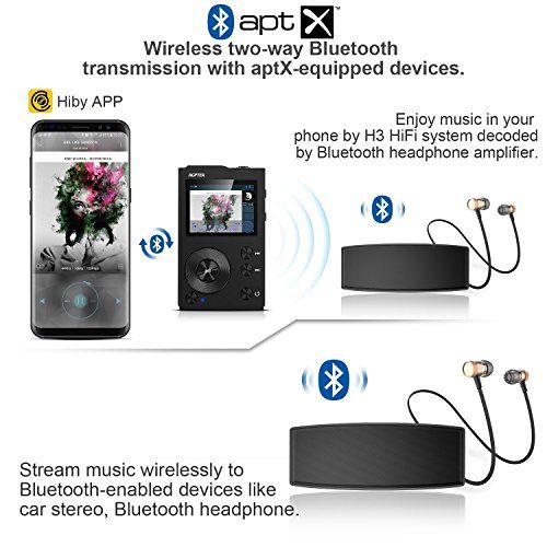 photo Wallpaper of AGPTEK-HIFI Bluetooth MP3 Player, Tragbare Musik Player, Diktiergeräte, Lossless Sound MP3 Player-schwarz