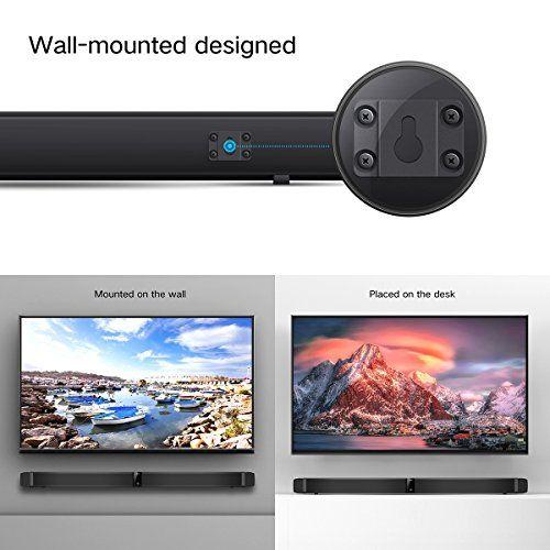 photo Wallpaper of ELEGIANT-Soundbar, ELEGIANT TV Sound Bar Bluetooth 4.0 Lautsprecher Wired/Wireless Heimkino 30W-