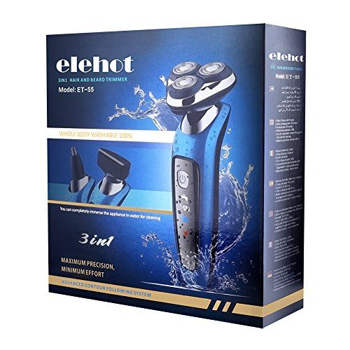 photo Wallpaper of ELEHOT-Afeitadora Eléctrica Rotativa Para Hombre Multifunción 3 En 1 Tres Cabezas Giratorias Uso-Gris