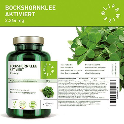 photo Wallpaper of LifeWize -LifeWize Bockshornklee Kapseln Aktiviert   2.264 Mg Bockshornkleesamen (Fenugreek) -