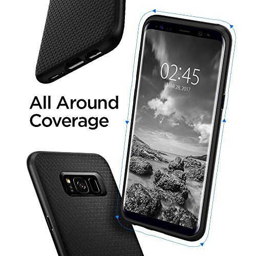 photo Wallpaper of Spigen-Spigen Liquid Air Samsung Galaxy S8 Hülle (565CS21611) Stylisch Muster-LA Schwarz