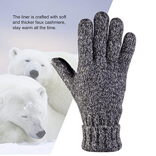 photo Wallpaper of Vbiger-Vbiger Winter Handschuhe Warme Handschuhe Baumwolle Damen Frauen Handschuhe, Stil 2-Stil 2 Grau(l)