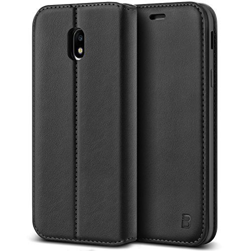 photo Wallpaper of BEZ®-BEZ® Samsung J5 2017 Hülle, Handyhülle Samsung Galaxy J5 2017 Tasche, Flip Case Cover-Schwarz