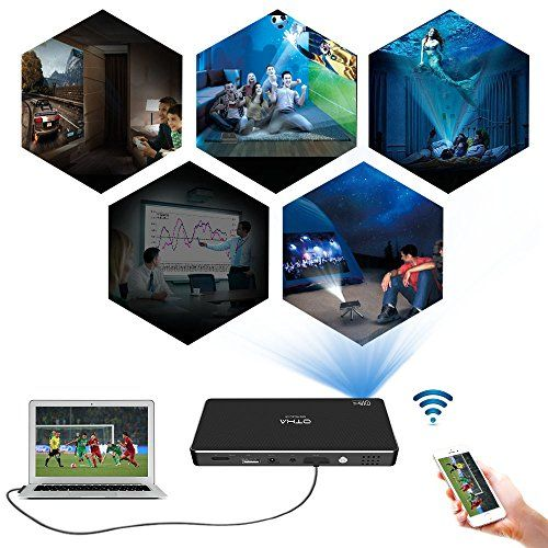 photo Wallpaper of OTHA-OTHA Mini Beamer 1080P Led Full HD Android Mini Projektor Eingebaut In 32GB-C800S-32G