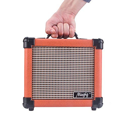 photo Wallpaper of Mugig-MugigGitarrenverstärkerE Gitarre10WMiniAmpmitGriffTragbarerVerstärker-Orange