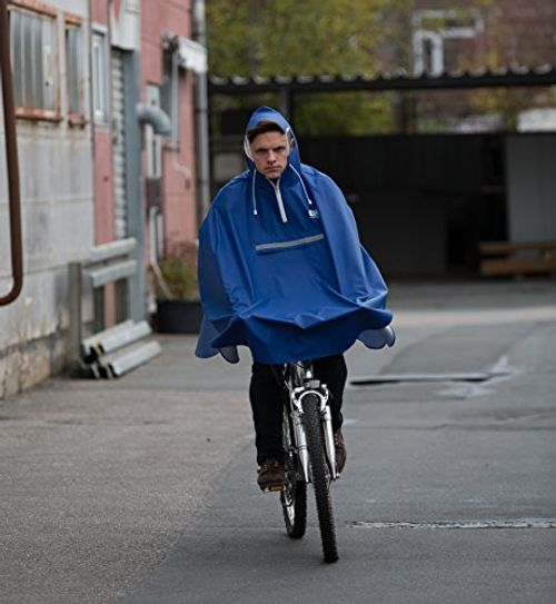 photo Wallpaper of CYCLEHERO-Premium Fahrrad Regenponcho Mit Kapuze Inkl. Sichtfenster   Fahrradponcho Für Herren Und-blau