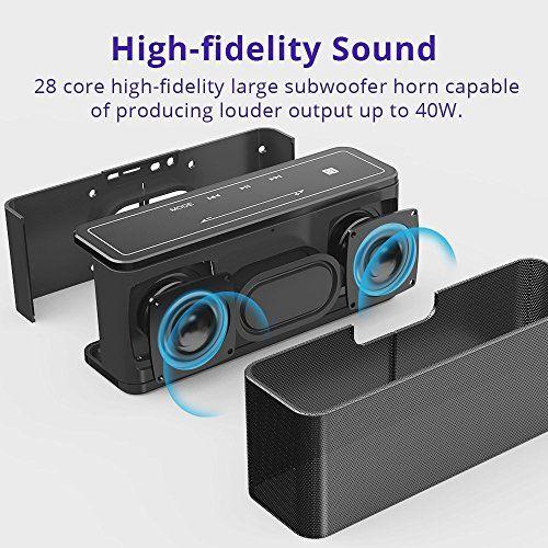 photo Wallpaper of Tronsmart-Bluetooth Lautsprecher, Tronsmart Mega 40W Tragbarer Musikbox, Kabelloser Lautsprecher Mit Mikrofon,-Schwarz