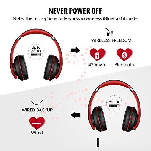 photo Wallpaper of Mpow-Bluetooth Overhead Headset, Mpow On Ear Stereo Wireless Headset Kopfhörer-Schwarz