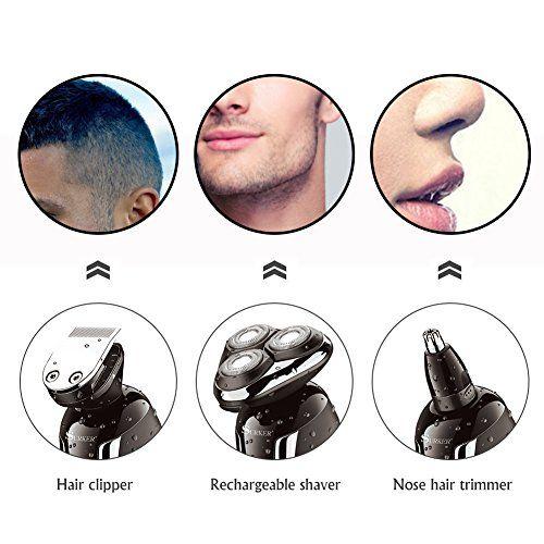 photo Wallpaper of SURKER-SURKER Maquinilla De Afeitar Electrica Afeitadora Barba Resistente Al Agua Multifunción-Negro
