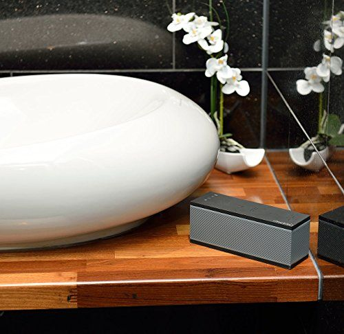 photo Wallpaper of auvisio-Auvisio WiFi Lautsprecher: WLAN Multiroom Lautsprecher Mit Bluetooth & Mikrofon, 10 Watt-