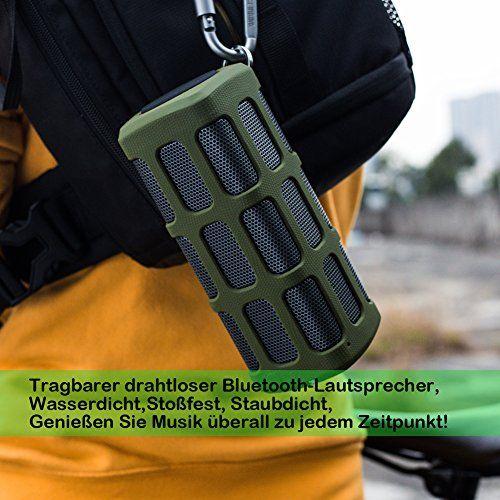 photo Wallpaper of Hapyia-Hapyia Tragbarer Drahtloser Bluetooth Lautsprecher, 1 Paar Lautsprecher Für 3D Stereo Surround-Grün