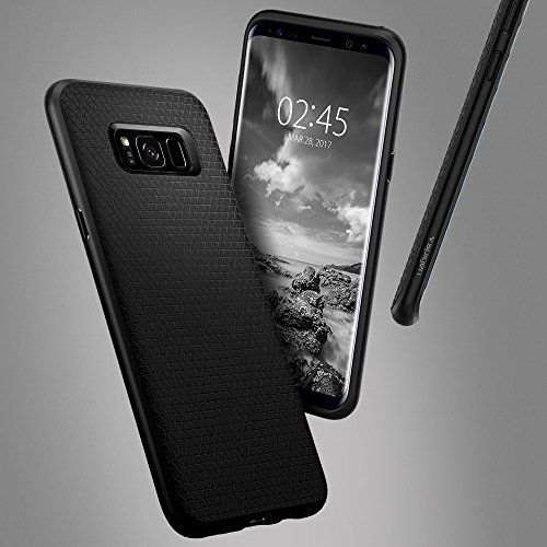 photo Wallpaper of Spigen-Spigen Liquid Air Samsung Galaxy S8 Hülle (565CS21611) Stylisch Muster Design Handyhülle Schutzhülle-LA Schwarz