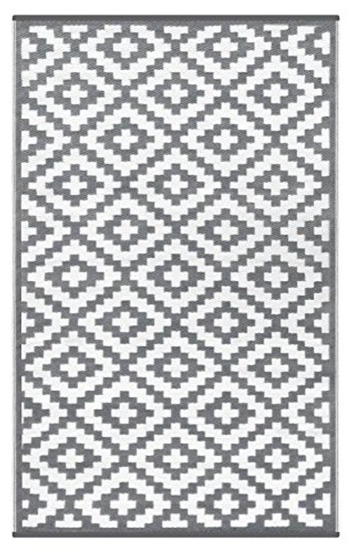photo Wallpaper of Green Decore-Green Decore Wendbarer Öko Teppich Aus Recyceltem Kunststoff (Plastik) Für Innen Und Außen /-Grey / White