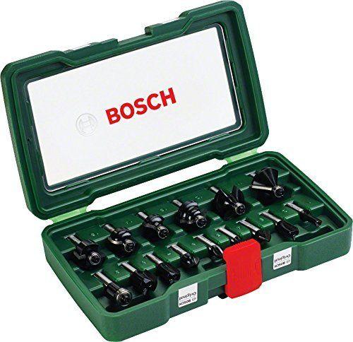photo Wallpaper of Bosch-Bosch Fräser Set 15tlg. (Holz, Für Oberfräsen Mit 8 Mm Schaft)-