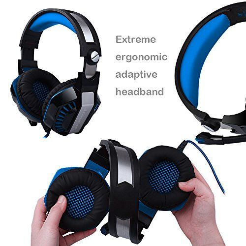photo Wallpaper of Butfulake-AooLife Gaming Headset Für PS4, Xbox One, Für Computer, Laptop, Tablet, Smartphone,-1-blau