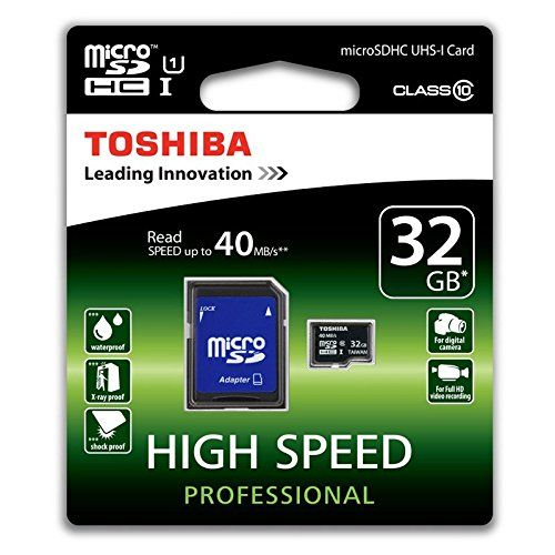 photo Wallpaper of Toshiba-Toshiba High Speed Professional Micro SDHC 32GB Class 10 (bis Zu 40MB/s-Schwarz