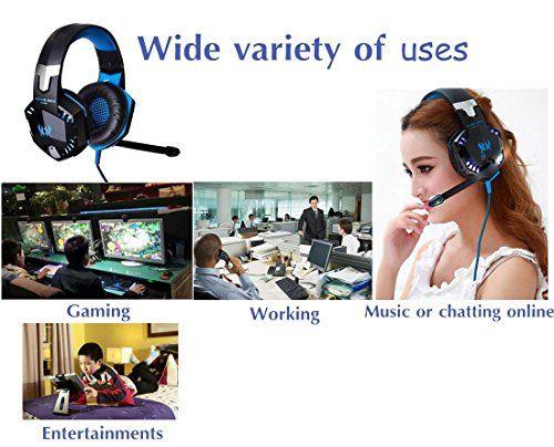 photo Wallpaper of DAPING-Gaming Headset PC Daping Over Ear Kopfhörer Gaming Mit Mikrofon-Blue