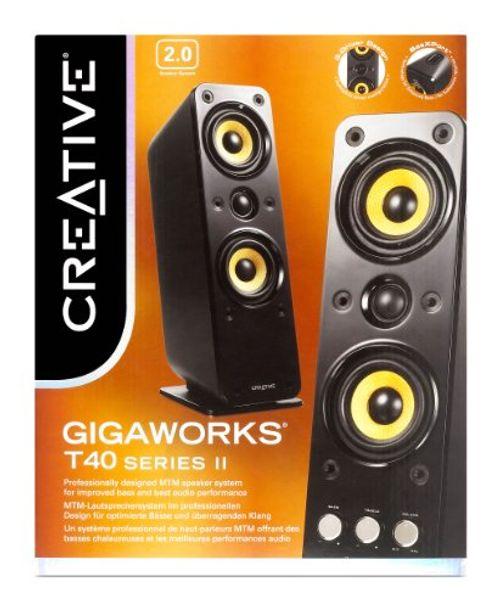 photo Wallpaper of Creative-Creative GigaWorks T40 Series II. Lautsprecher 2.0 Stereo/AUX IN, Line IN/16W-schwarz