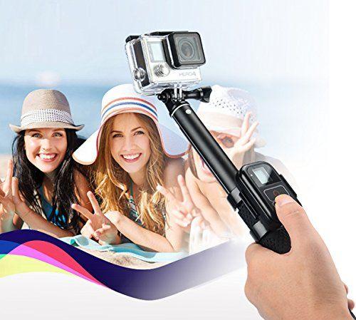 photo Wallpaper of GreatCool-GreatCool GoPro Selfie Stick Mit Stativ+Bluetooth Fernbedienung+GoPro Fernbedienung Clip+Handy Adapter Für GoPro-Schwarz(Selfie Stick mit Stativ)