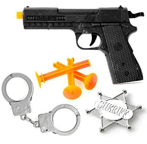 photo Wallpaper of Nerd Clear-Nerd Clear Polizei Set Für Kinder Pfeil Pistole, Sheriff Stern Und Handschellen Spielzeug Für-Multicolor