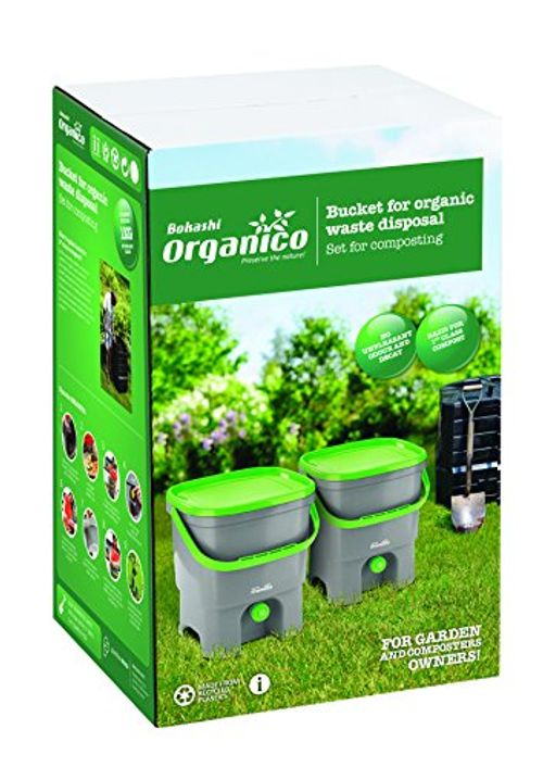 photo Wallpaper of Skaza - Mind Your Eco-Bokashi Organico 2er Set   2 X 16 Liter Mit-Weiß / Limette