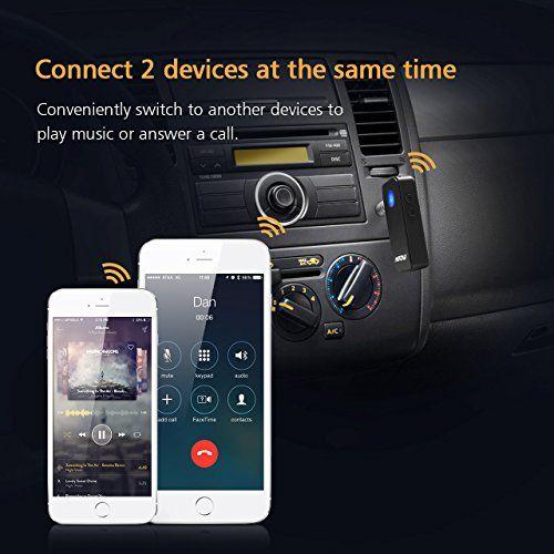 photo Wallpaper of Mpow-Mpow Bluetooth 4.1 Empfänger Drahtlos Bluetooth Receiver Tragbare Bluetooth Adapter Audiogeräte Für KFZ-Schwarz