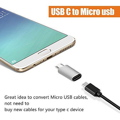 photo Wallpaper of astarye-USB C FeMale To Micro USB Männliche Adapter Astarye 2 Pack Portable Data-silver