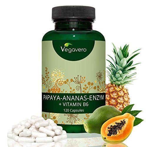 photo Wallpaper of Vegavero-Papaína (Papaya) Y Bromelina (Piña) + Vitamina B6 De Vegavero | Digestión +-