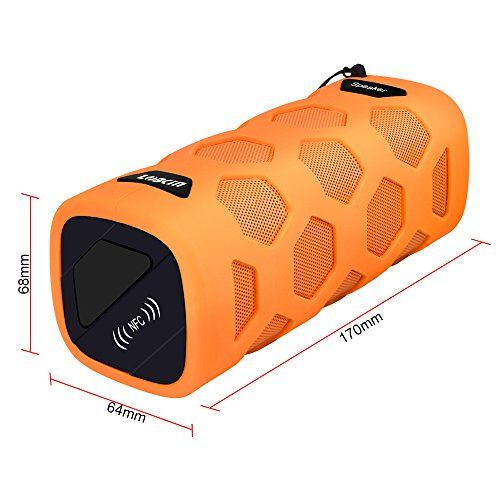 photo Wallpaper of ECANDY-LOBKIN Wasserdichter Bluetooth Lautsprecher   IP65 Zertifiziert   Staubdicht & Stoßfest –-Orange