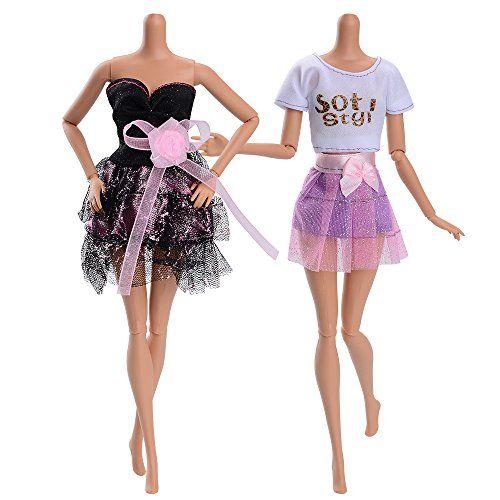 photo Wallpaper of ASIV-ASIV 10 Stück Hochzeitkleider Abendkleider, 10 Paar High Heel Schuhe Für Barbie Puppen Mädchen-A